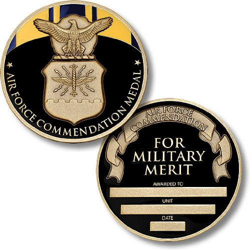 Air Force Commendation Medal Coin - Engravable Challenge Coin (Medal Coin Challenge)