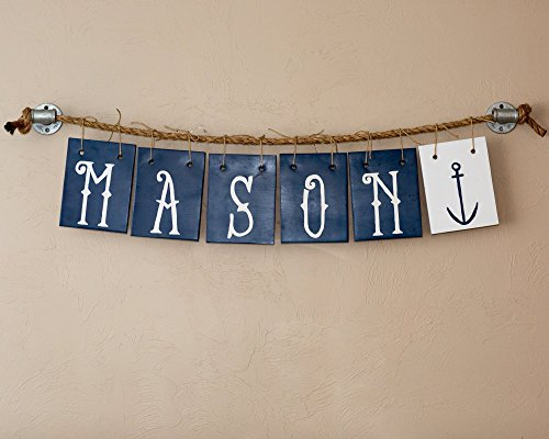 Baby Name Sign Personalized Nautical Custom Name Sign Letters by Love Built Shop