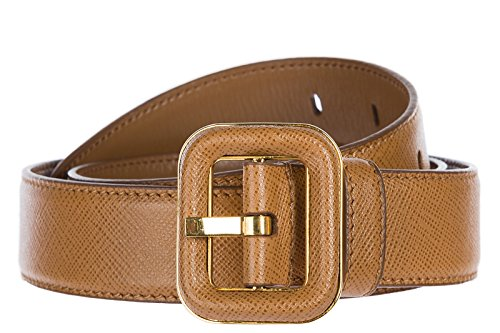 Prada women's genuine leather belt brown US size 32 1C5857 053 98L by Prada