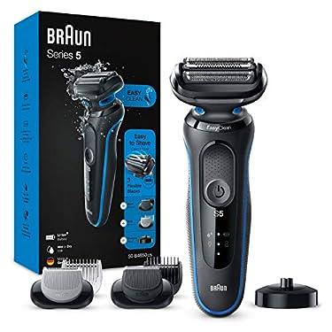 Braun-Series-5-50-B4650cs-Afeitadora-Electrica-maquina-de-afeitar-hombre-de-lamina-Con-Base-De-Carga-recortadora-de-barba-Depiladora-Corporal-Uso-En-Seco-Y-Mojado-Recargable-Inalambrica-Azul