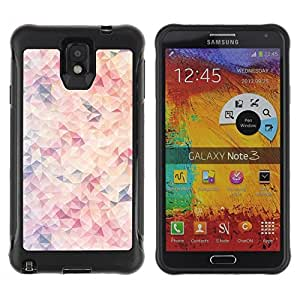 LASTONE PHONE CASE / Suave Silicona Caso Carcasa de Caucho Funda para Samsung Note 3 / Wallpaper Modern Art Pink Light