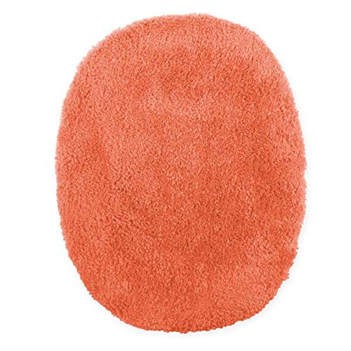MattsGlobal Modern Ultra Soft Elongated Toilet Lid Cover Stain & Fade-Resistant - 100% Nylon Face with Latex Back - High Absorbent for Bathroom Use - Multiple Colors Available (Coral)