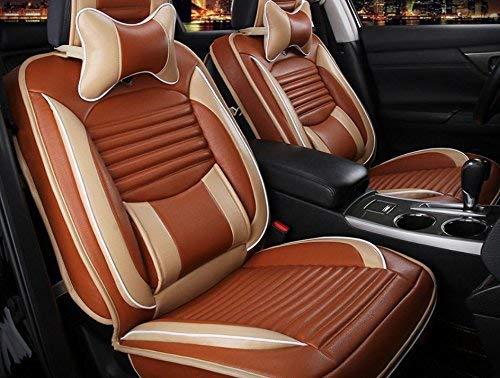 カーカーシートプロテクター用シートカバー 万能ユニバーサルカークッションカバー本革デラックス版(13セット)ユニバーサルカーパッドカバーフォーシーズンズユニバーサル3色オプション カーシートクッションカーシートマット (色 : 4)