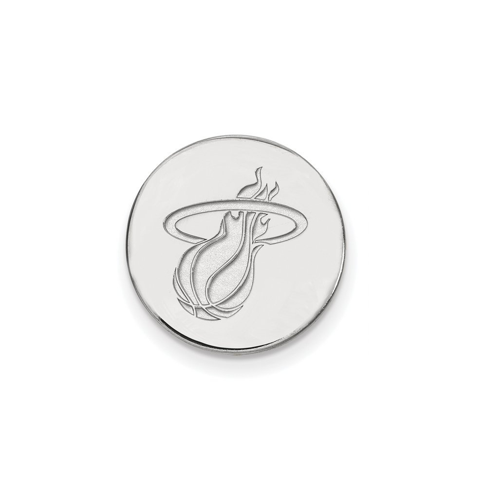 NBA Miami Heat Lapel Pin in 14K White Gold