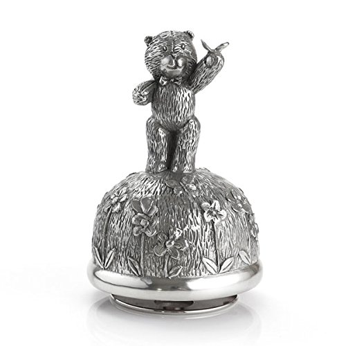 Royal Selangor Hand Finished Teddy Bear's Picnic Collection Pewter Catching Butterflies Musical Carousel by Royal Selangor