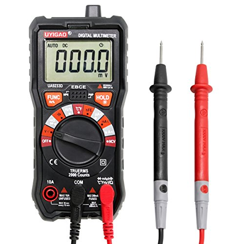 Digital Multimeter UYIGAO Auto-Ranging Digital Multimeters Electronic Measuring Instrument AC Voltage Detector Portable Amp Ohm Volt Test Meter Multi Tester Diode and Continuity Test Scanners Home Use by UYIGAO (Image #7)