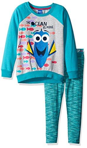 Disney Girls 2 Piece Finding Dory Sweatshirt and Legging Set