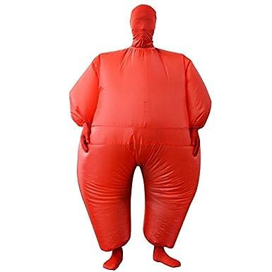 Amazon.com: Inflables Sumo Disfraz Adulto Rojo Traje Disfraz ...