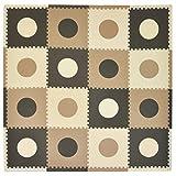 Tadpoles Playmat Set 16-Piece Circles, Taupe/Brown