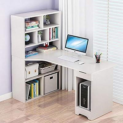 DRHYSFSA-Home Mesa Ordenador Mesa de Estudio 5-Tier Estanterías ...