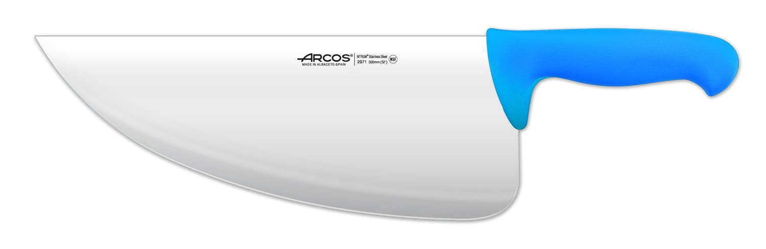 Arcos 12-Inch 310 mm 500 gm 2900 Range Cleaver, Blue by ARCOS