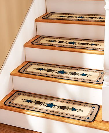 SET OF 4 COUNTRY STAR STAIR TREADS