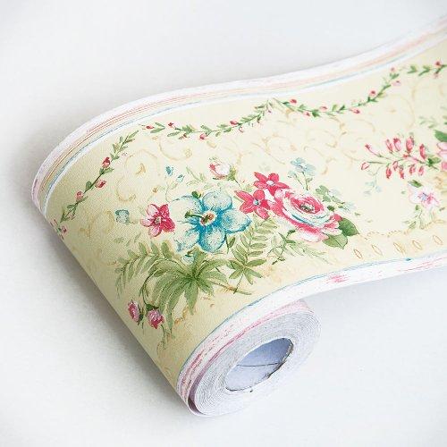 Trachelium - Self-Adhesive Wallpaper Borders Home Decor(Roll) by Blancho Wallpaper border