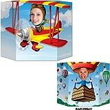 Beistle 57951 Biplane/Hot Air Balloon Photo Prop, 3-Feet 1 by 25-Inch