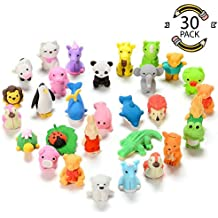 Sakiyr 30PCS Animal Erasers for Kids, Mini Puzzle Japanese Pencil Erasers Set for Kids Games Prizes Party Favors and School Supplies