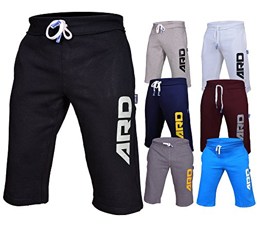 Free 4Fit Mens Cotton Fleece Shorts Jogging Casual Home Wear MMA Boxing Martial Art Jogger