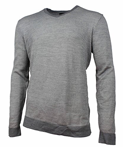 Calvin Klein Mens Italian Yarn V-Neck Pullover Sweater (Albenga Combo, X-Large)