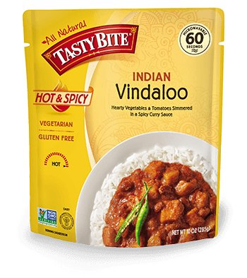 Tasty Bite, Heat and Eat Indian Cuisine Entree, Indian Vindaloo Curry, 10 Ounce
