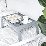 Wgwioo Portable Laptop Desk Foldable Breakfast Serving Bed Tray Lightweight Foldable Laptop Table,Gray