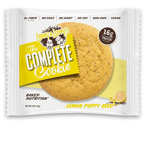 Lenny & Larry's The Complete Cookie, Lemon Poppy Seed, 4-Ounce Cookies (Pack of 12) ()