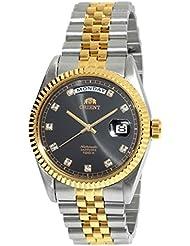 ORIENT President Classic Automatic Sapphire Watch Two Tone Gold EV0J002B