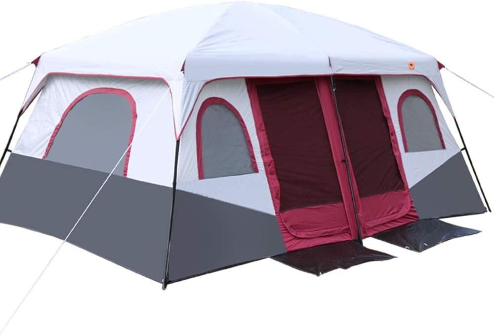 テントテント屋外2ベッドルーム1ベッドルームキャンプキャンプ2ルーム1ベッドルームマルチパーソンビーチテント 赤 430*305*203CM