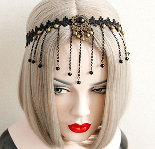 handm (Black Tiara With Stones)