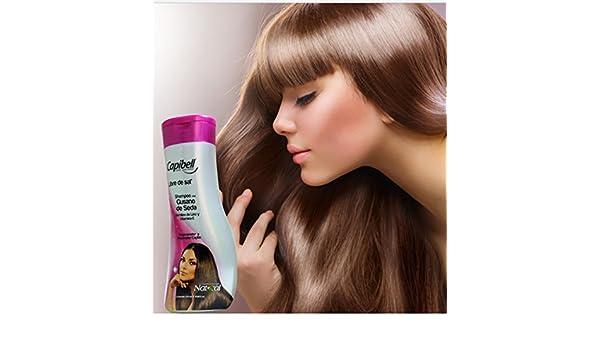 Amazon.com : Capibell Shampoo Gusano De Seda Semilla De Lino Y Vitamina E cabello maltratado o seco 470grm / 15.6oz : Beauty