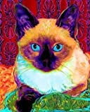 Siamese Cat Art Print on Canvas Xena