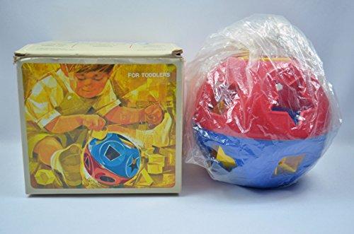 Vintage 1968 Tupperware Shape-O Ball Toy In Original Box Toddler Pre Schoolers