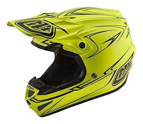 Troy Lee Designs Pinstripe adulto SE4Motocross Casco de Moto, Color Amarillo, Amarillo, Mediano
