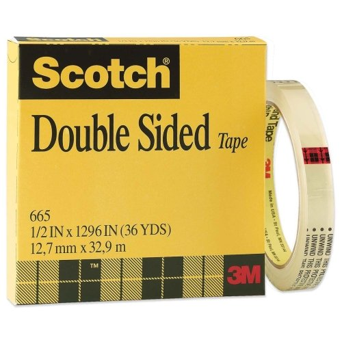 Non Yellowing Photo Safe Dispenser (3M Scotch 665 Double-Sided Tape - 0.50