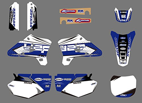 ruilian 0052 Customized 3M Sticker Motorcross Graphic Motorcycle Decals Stickers Kit for Yamaha YZ250F YZ450F YZF250 YZF450 2003 2004 2005 YZ 250F 450F YZF 250 450 -