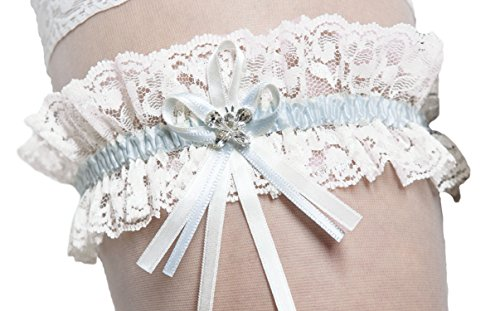Elastic bridal wedding lace garter with sparkling for Garter under wedding dress
