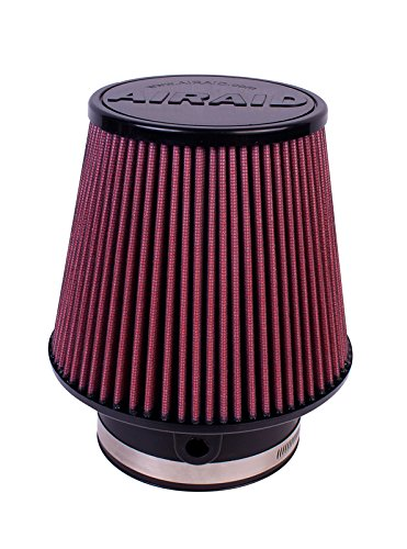 Airaid 700-581 Universal Clamp-On Air Filter: Round Tapered; 3.875 in (98 mm) Flange ID; 6 in (152 mm) Height; 7 in (178 mm) Base; 5 in (127 mm) Top