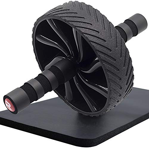 - Ab Roller Wheel-Abdominal Exercise Roller Wheel as Core Training Fitness Equipment -Ab Workout Wheel with Knee Pad for Home Gym with Non-Slip Handles