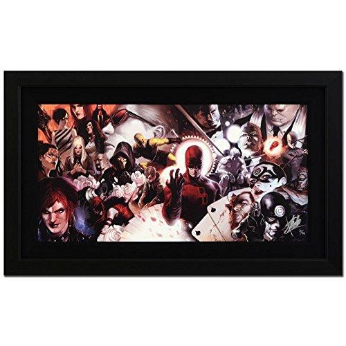 STAN LEE signed DAREDEVIL Marvel ORIGINAL COMIC Artwork COA framed BULLSEYE Marko Djurdjevic