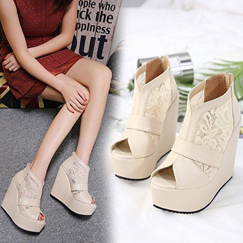Chaussure Spring Pente Dentelle Sandales Avec En Chaussures Hauts Une 34 Gtvernh Poisson De Talons 13 Tide Noir La Cm 4vqYXRw5