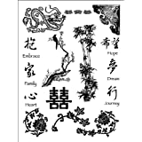 Dove of the East China Journey Foreign Acccents Clear Stamps (4-Inch by 7-1/4-Inch) 1 sheet per pack