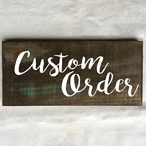 Custom Text Rustic Wooden Sign 12X6