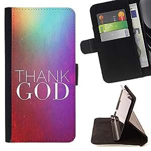 Momo Phone Case / Flip Funda de Cuero Case Cover - BIBLIA Gracias a Dios; - Samsung Galaxy Core Prime