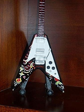 De dibujo con espiral guitarra en miniatura JIMI HENDRIX Flying V ...
