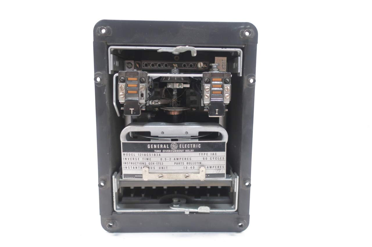 General Electric GE 12IAC51B3A OVERCURRENT TIME Relay 0.5-2A D648888