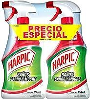 Harpic Sarro y Mugre, 650 ml, Pack of/Paquete de 2