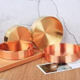 kitchenaid 14 piece - Bazzano 2 Pieces Round Brass Tabletop Storage Perfect Tray Organizer Plate Home Decor -14cm