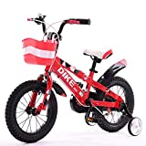 Great St. Children's Bicycle 12/14/16/18 Inch 3-12 Years Old Boys And Girls Baby Bike Tricycle ( Color : Red, Size : 14 inches )