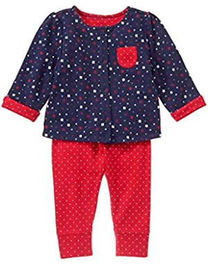 Litte Girl's Allover print - Floral 2-Piece Set - 0 - 3 Months