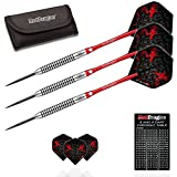 Red Dragon Dragonfly 2nd Generation 6: 26g- 95% Tungsten Steel Darts with Flights, Shafts, Wallet & Red Dragon Checkout Card