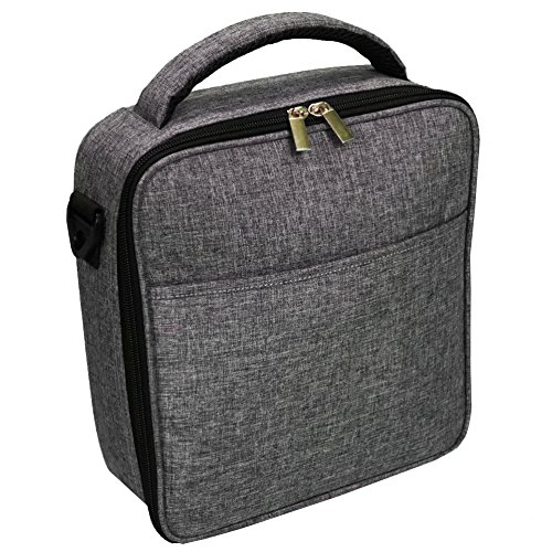 UPPER ORDER Durable Insulated Lunch Box Tote Reusable Cooler Bag 25 Percent Larger Storage (Charcoal Gray) ()