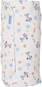 The Gro Company Classic Jurassic Groswaddle for Newborn, Blue/White